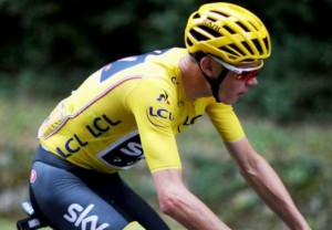 Chris Froome, líder del Tour de France-2017 (Foto: www.chron.com)