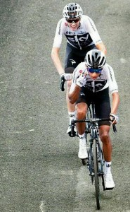 "Egan Bernal fue el ""Angel protector"" de Chris Froome (Foto: www.in.pinterest.com)"
